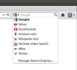 Vyhledávací pole ve Firefoxu
